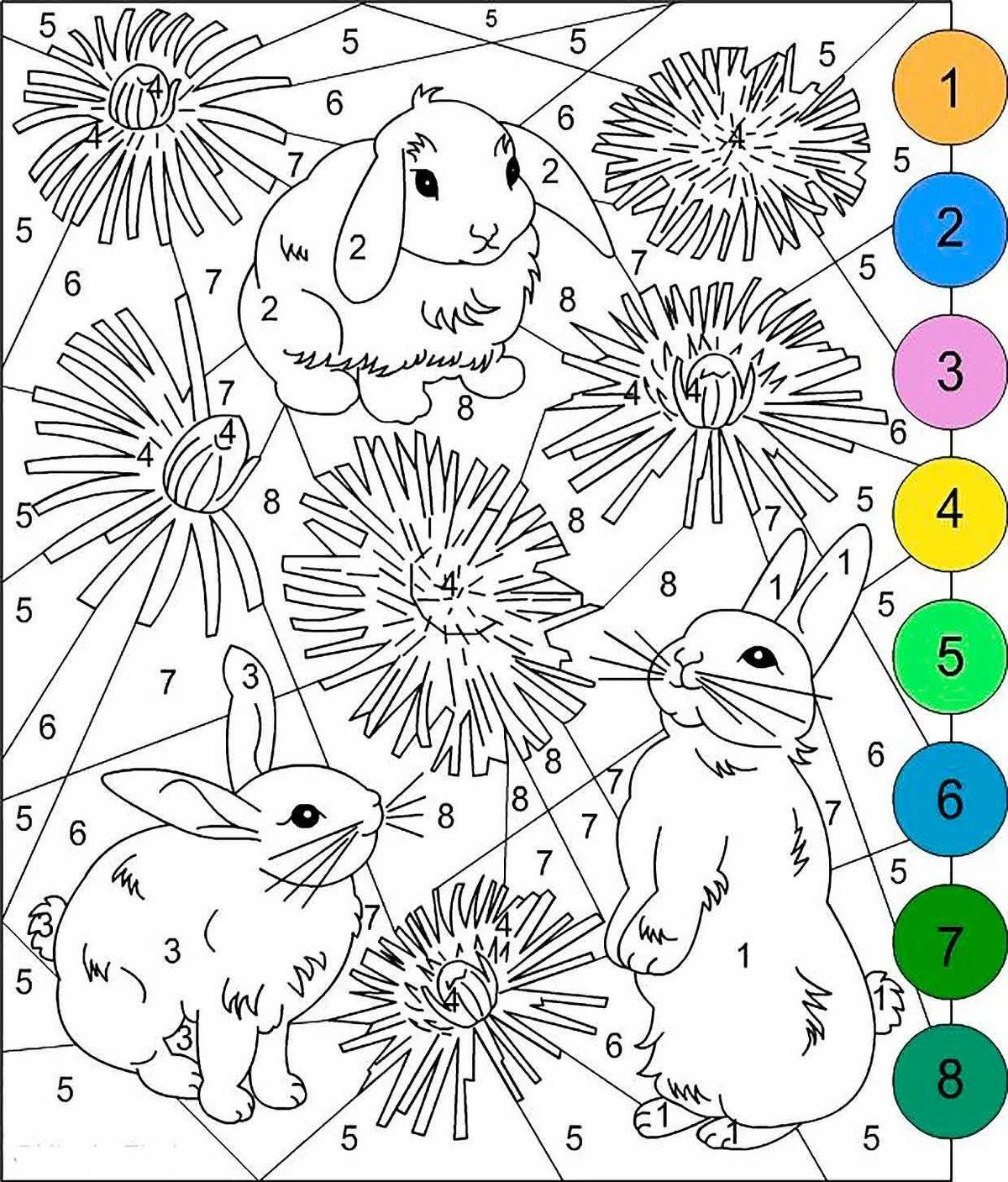 Игра раскраска по цифрам для девочек