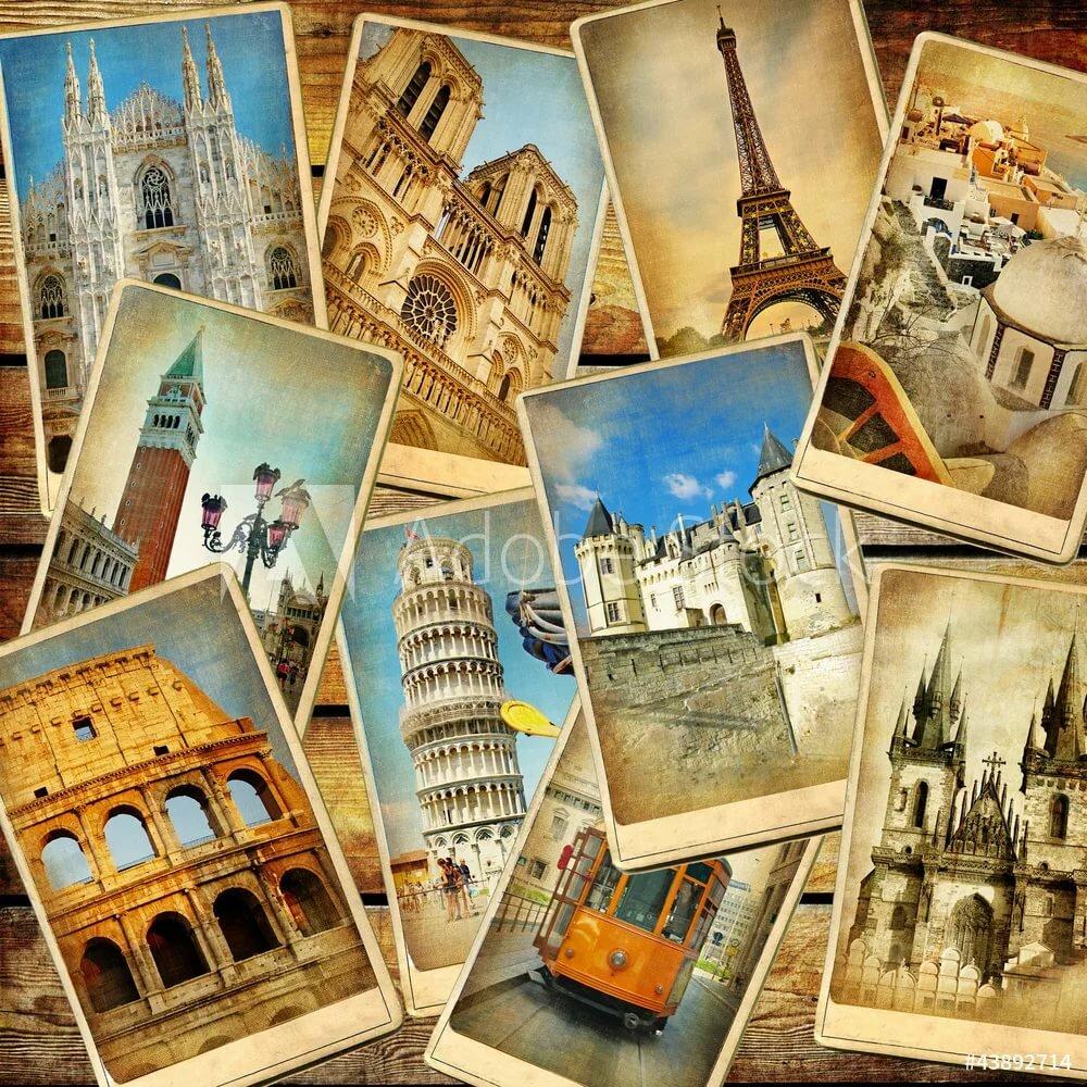 Открытки коллаж из марок