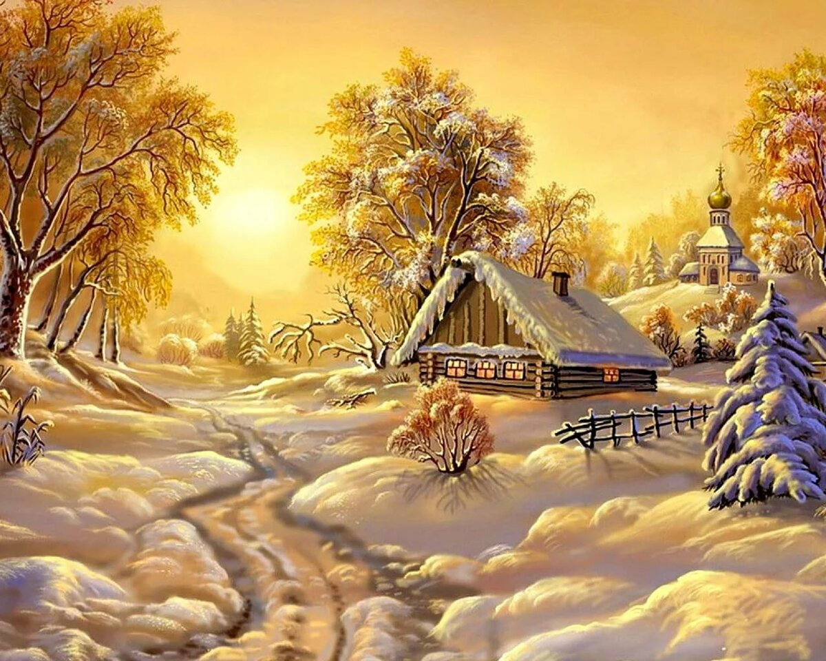видео зимний пейзаж открытки высокого разрешения фотостудии