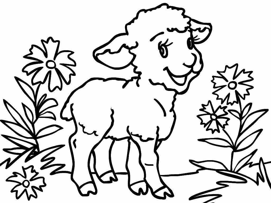 Розмальовки тварин в картинках