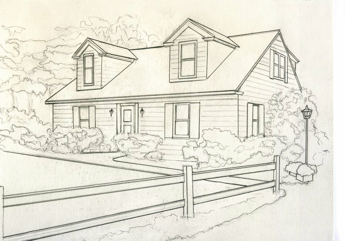 Дом мечты картинки рисунок