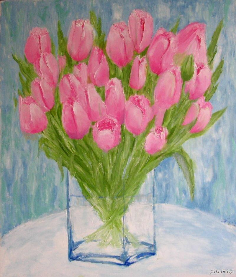 родители, хорошо рисунки карандашом тюльпаны в вазе расположением