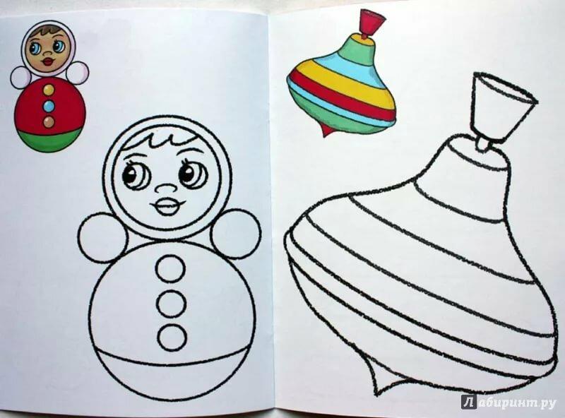 Рисование средняя группа картинки любимые игрушки