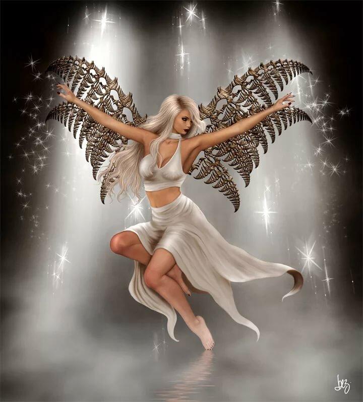 Двигающее картинки ангелы