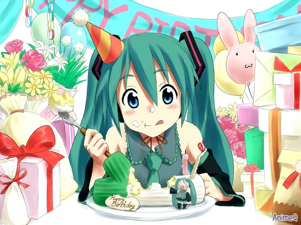 Надписью, аниме открытки музыкальные с днем рождения
