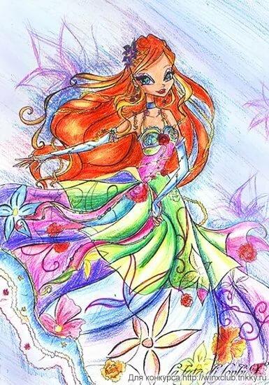 Картинки как нарисовать винкс цветные