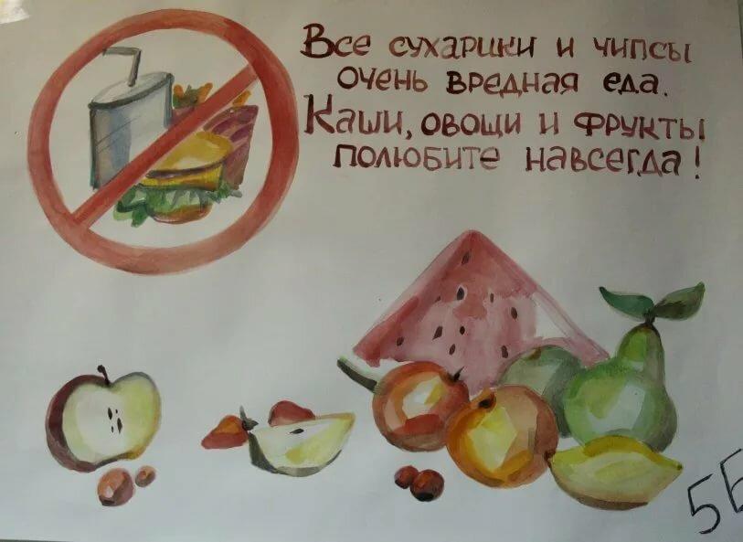 лучшие плакат на тему питания написано