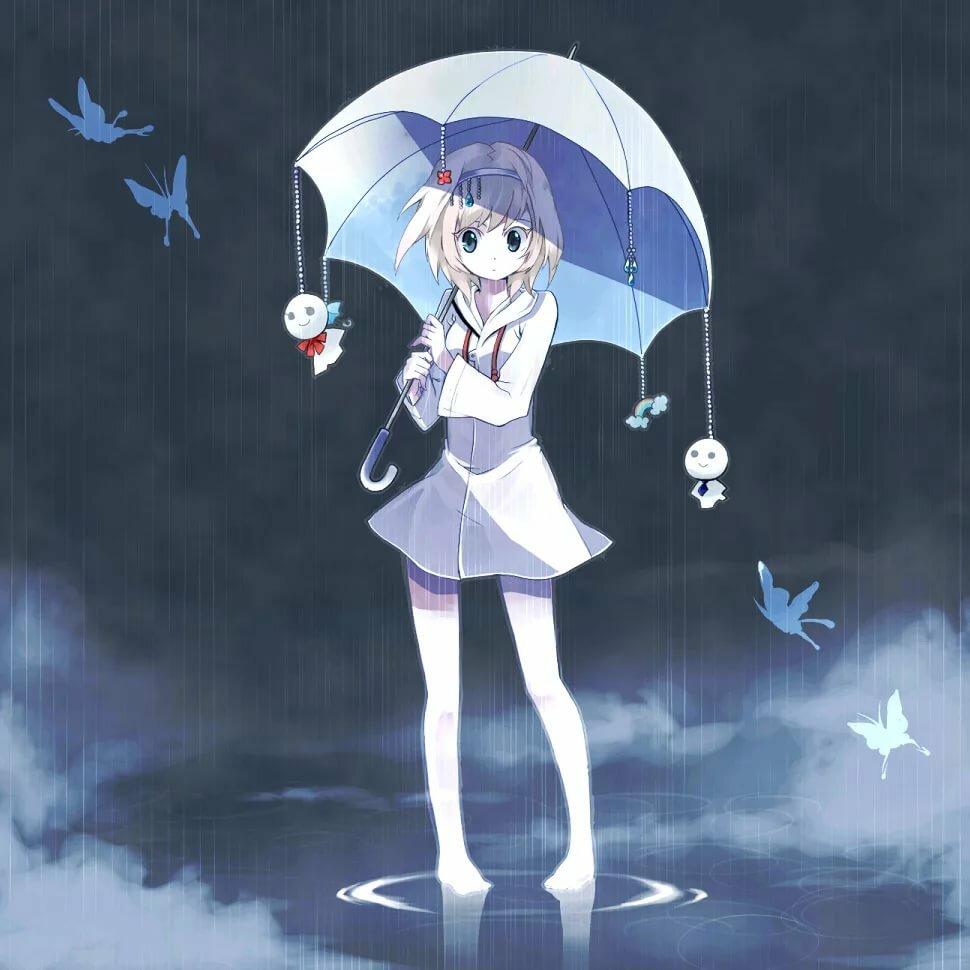 Аниме картинки зонт