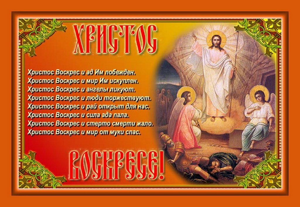 Открытка христос воскресе поздравление