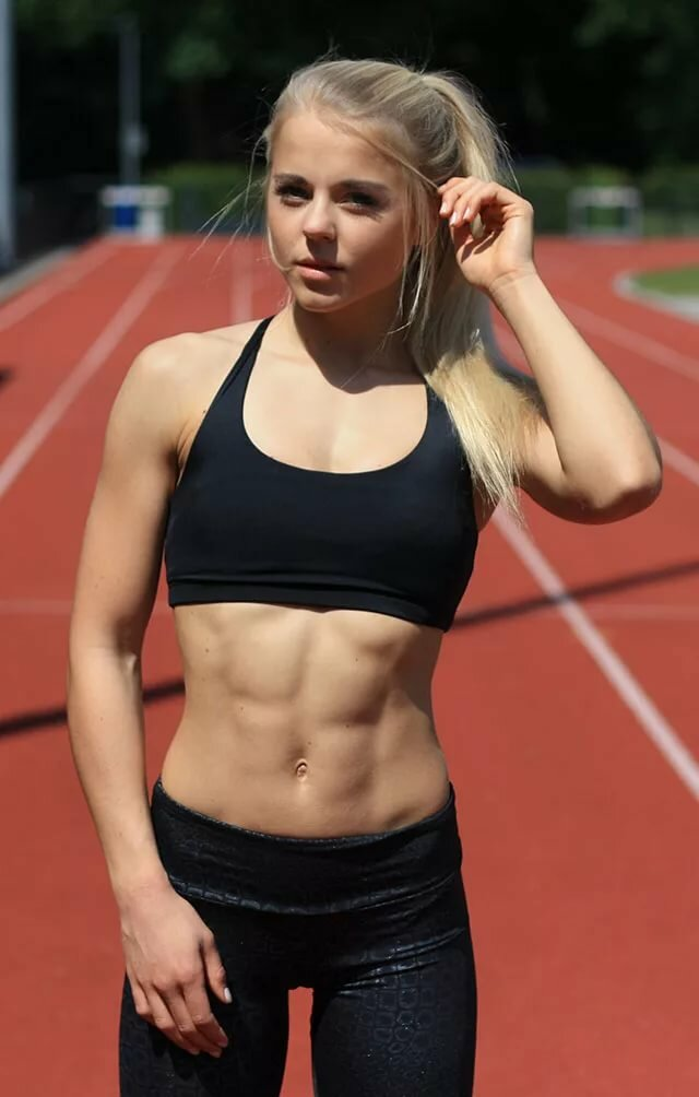 Boobs burning young athlete girls