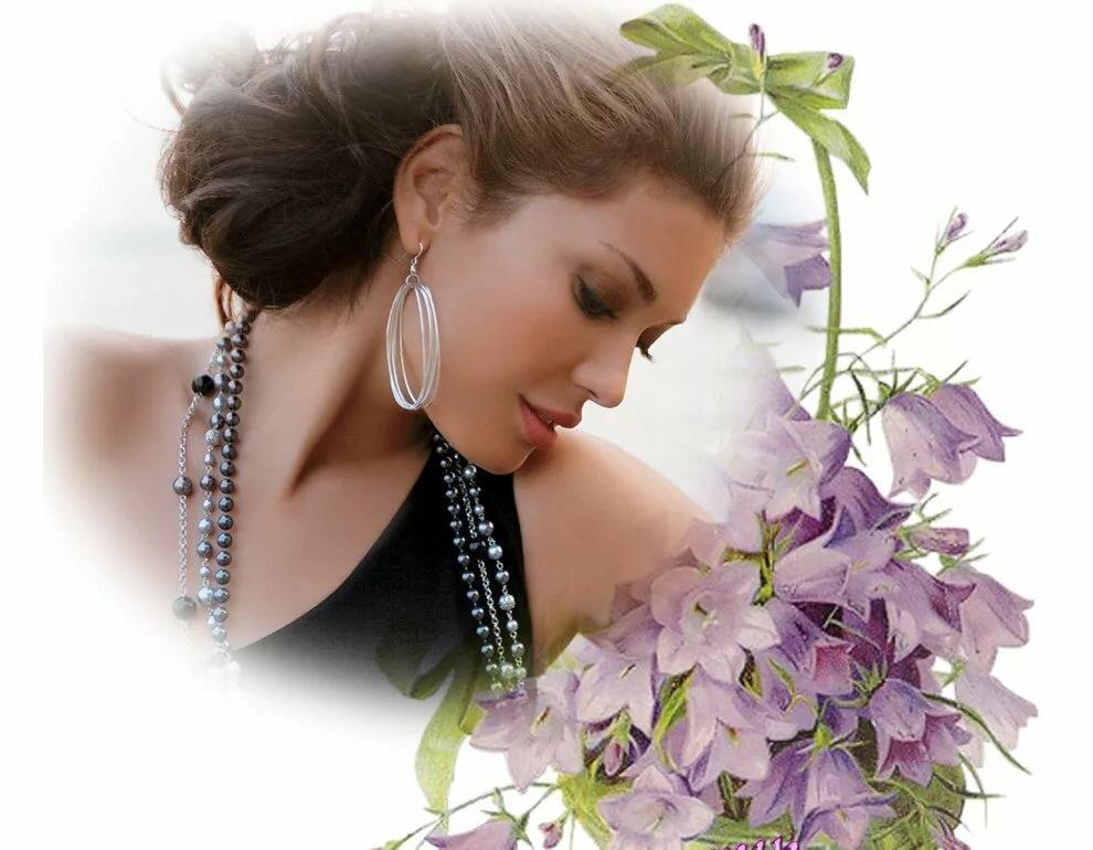 Сердечками картинки, открытки женщины с цветами