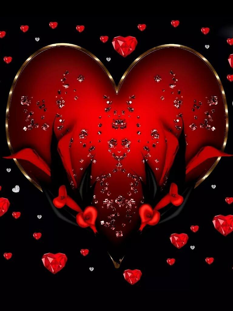 Картинки сердечки мерцающие