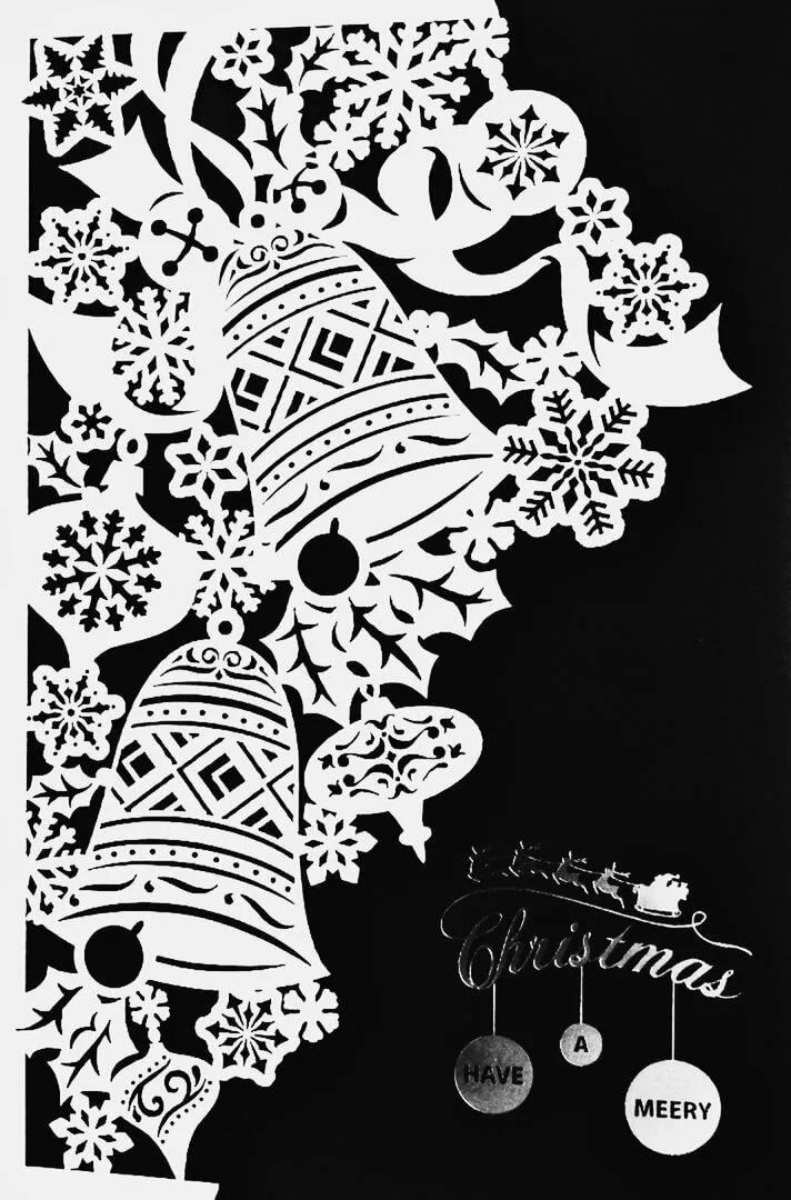 Новогодние открытки вытынанка схемы