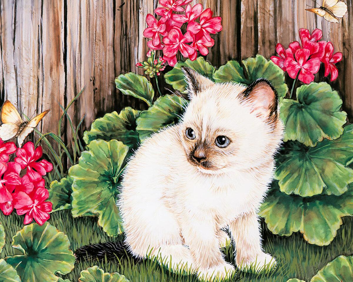 Открытки кошки с цветами, поздравлением дню спасателя