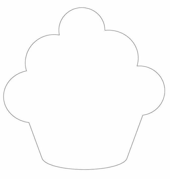 Юбилей, шаблон кекса для открытки