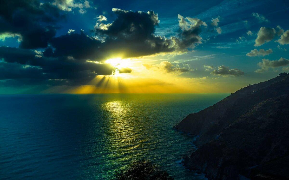 Картинки с восходом солнца в горах на море