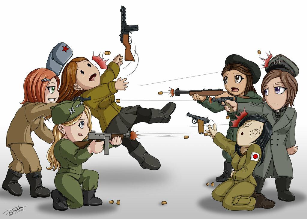 Мультяшные войны картинки