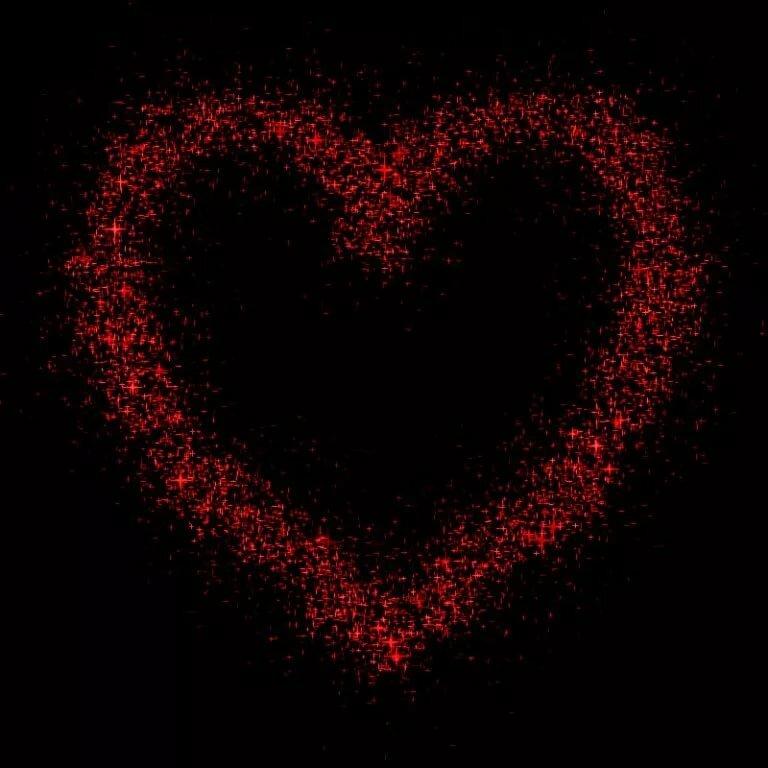 Сердечки гифы, анимацией трава