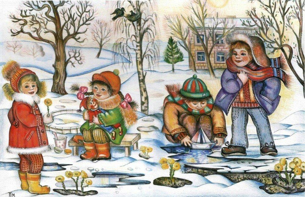 Холодное сердце, март в картинках для детей