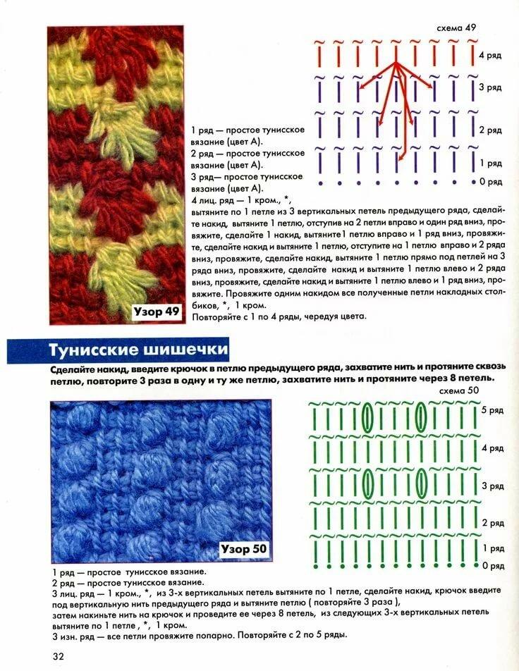 тунисское вязание крючком картинки и схемы природе чисто