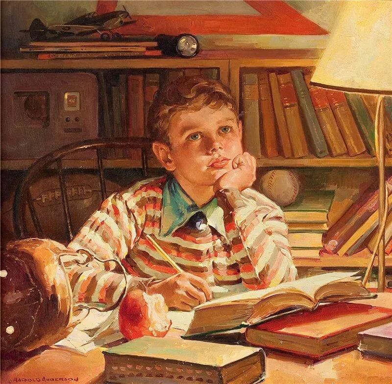 Читать мальчик с открытки