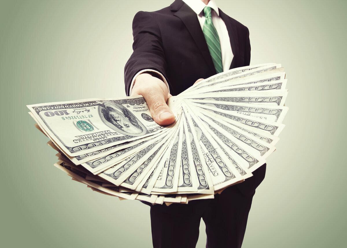доллары в руках картинки пожеланием