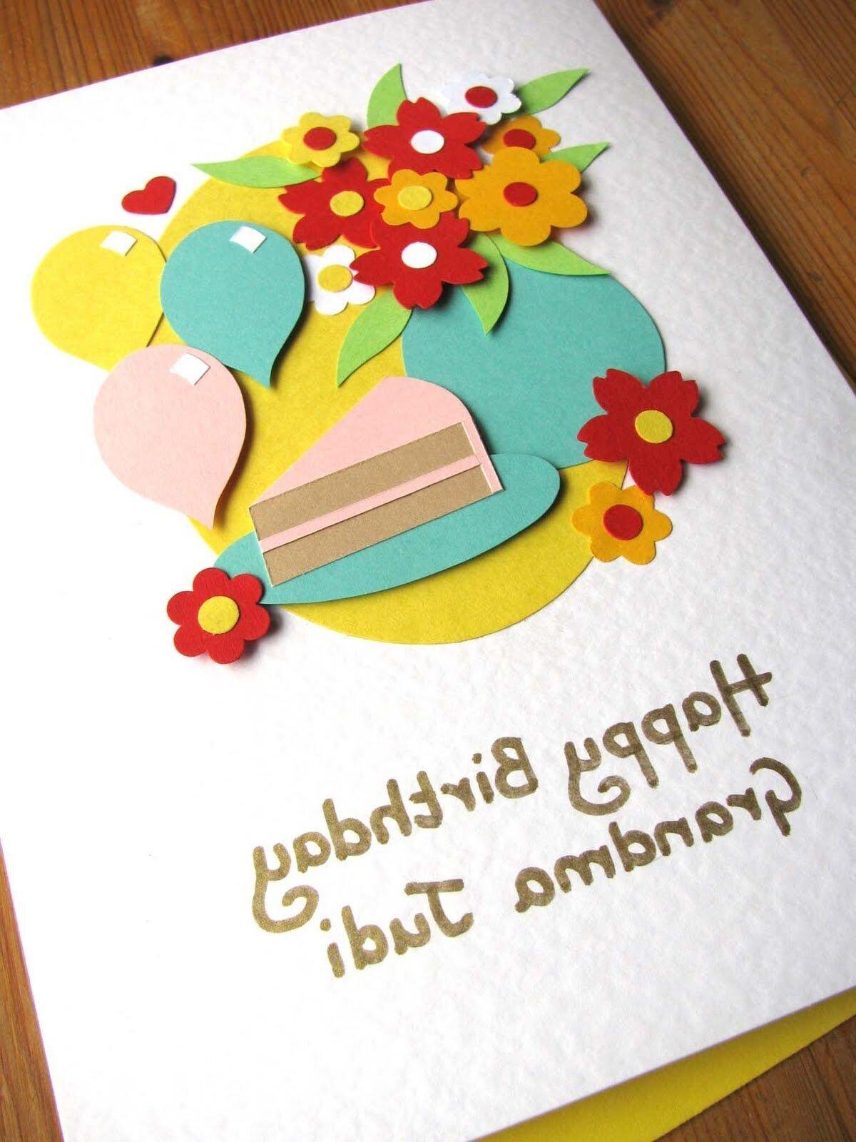 Пошагово открытка на день рождение бабушке своими руками