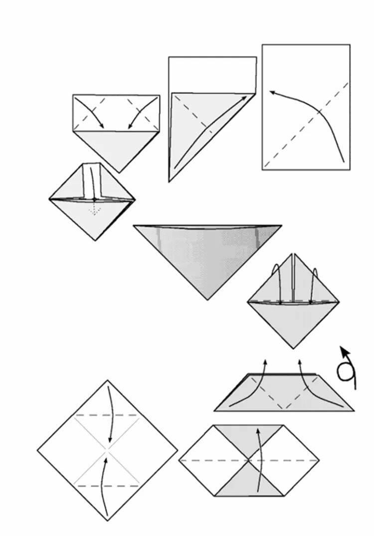 Днем рождения, треугольные открытки как сделать бумаги