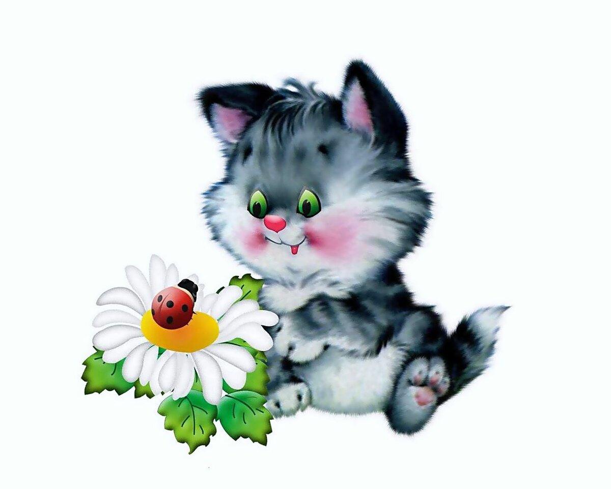 Открытки с кошкой привет, дети ссср открытка