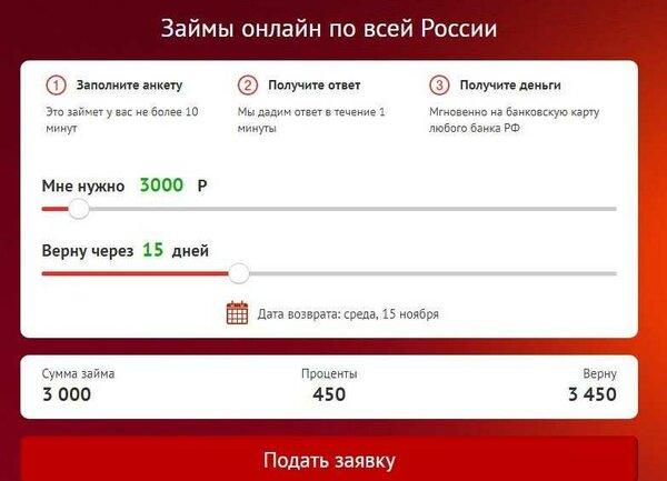 Онлайн заявка на микрозайм во все банки сразу
