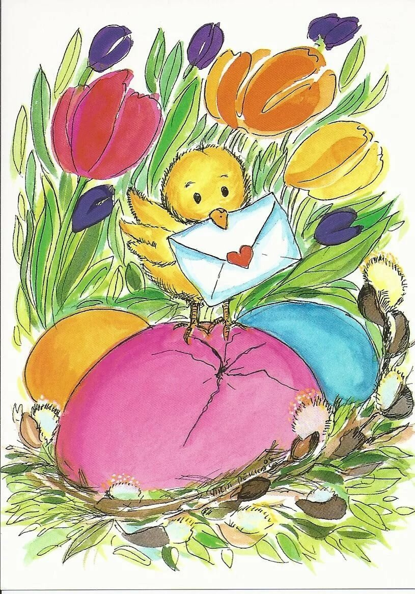 Поздравлением днем, открытки с пасхой рисунок