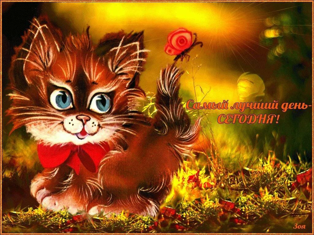 Открытки, живые открытки с хорошим настроением и добрым