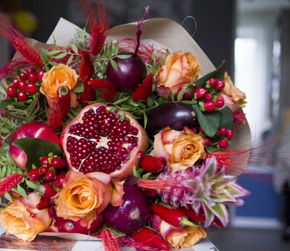 Картинка цветы необычные букеты ней