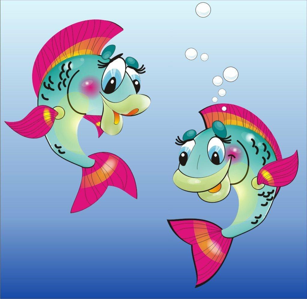 Марта, рыбки картинки для детей нарисованные