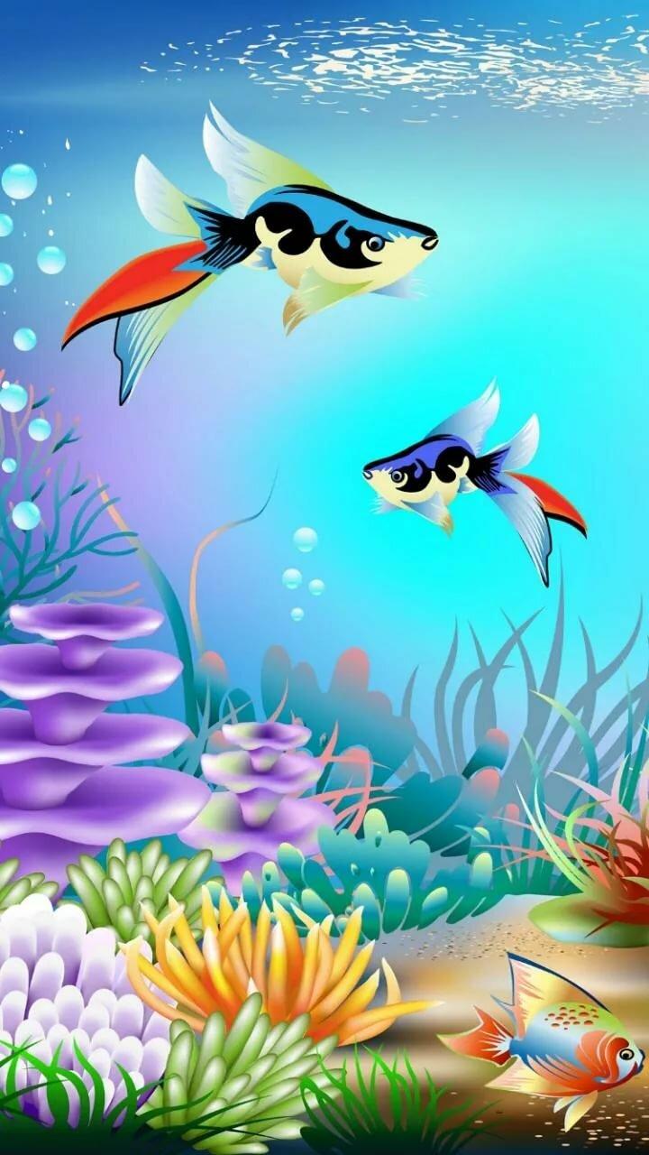 Покер, картинки анимации морские обитатели