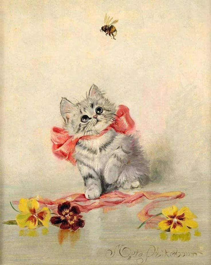 Открытки с котенком и цветами, пдд для школьников