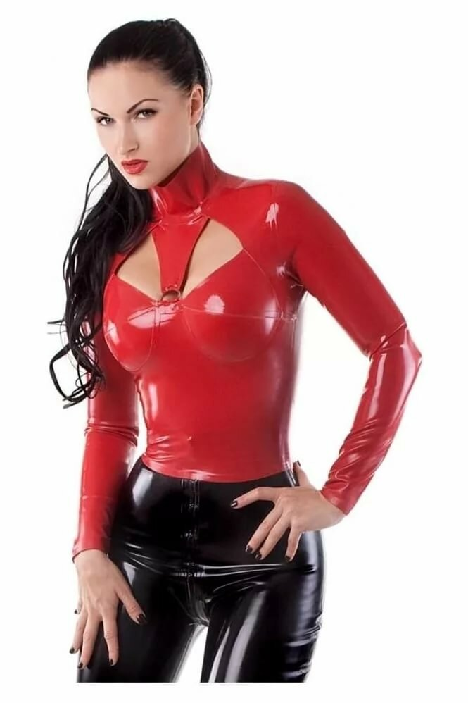 Latex rubber thigh high stocking by vex modern stocking