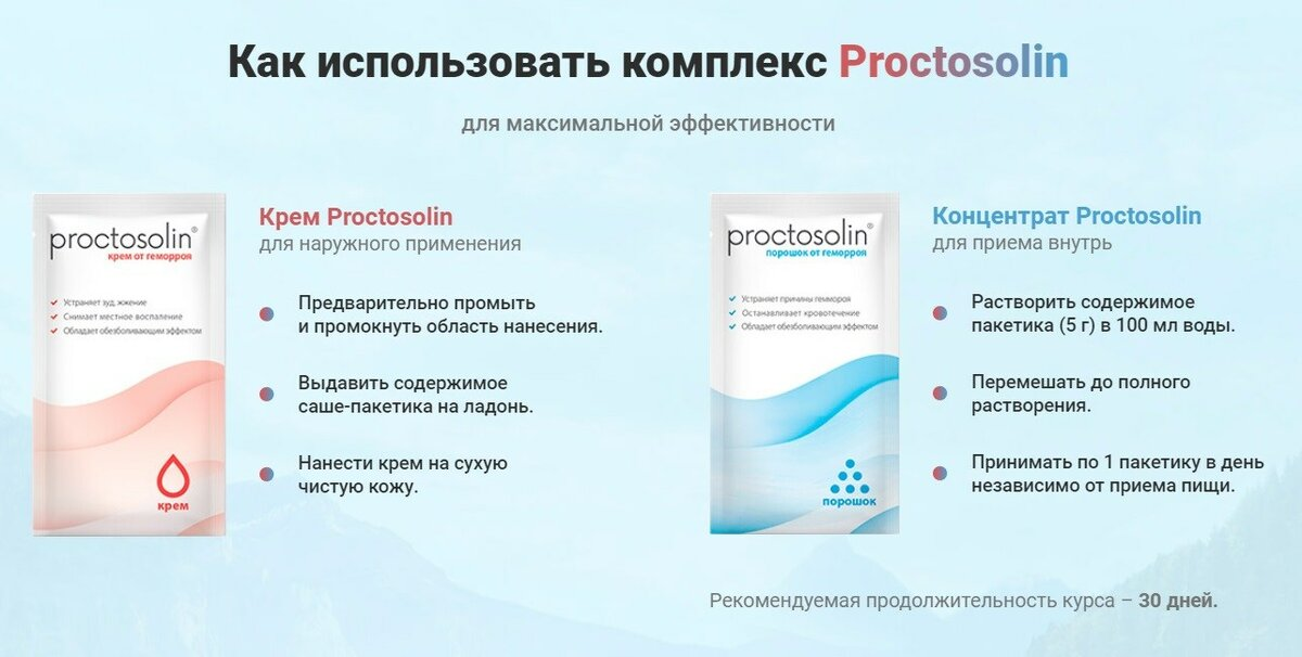 Проктозолин комплекс от геморроя