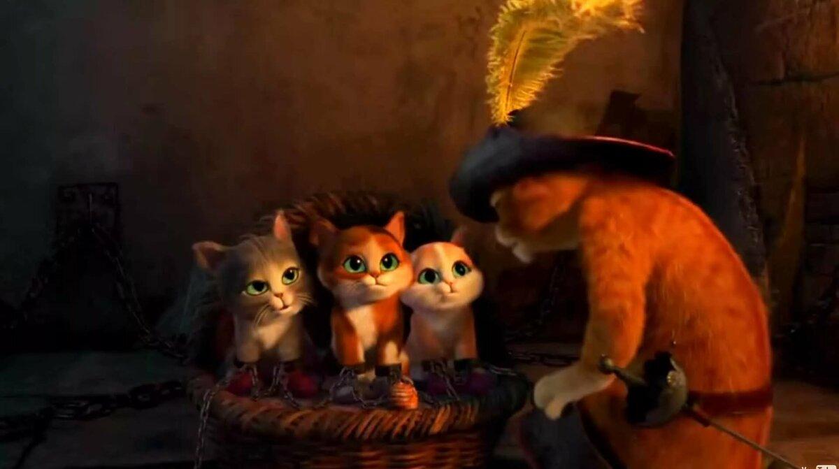 Котенок из кот в сапогах картинки