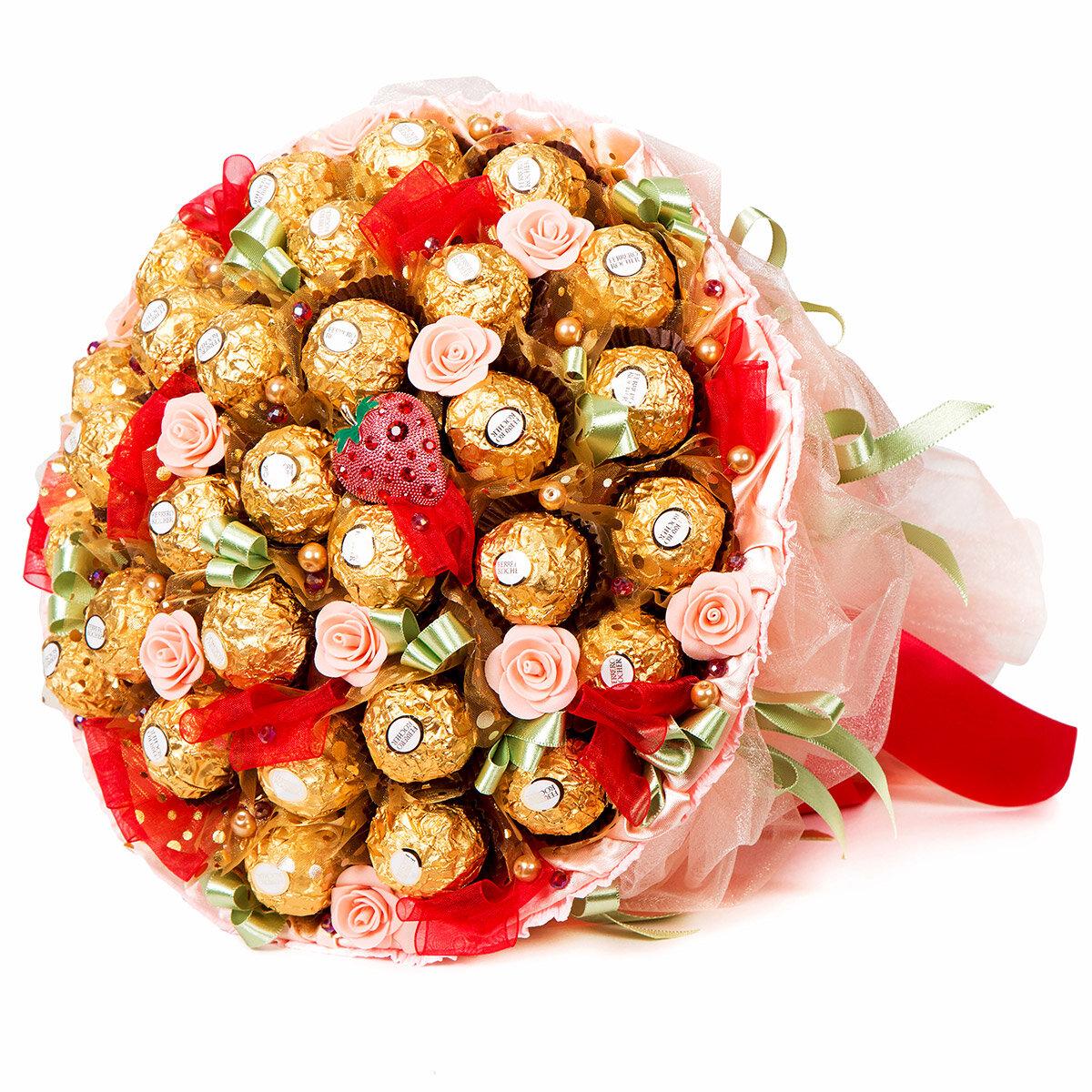 поздравления к подарку конфетный букет ловящие