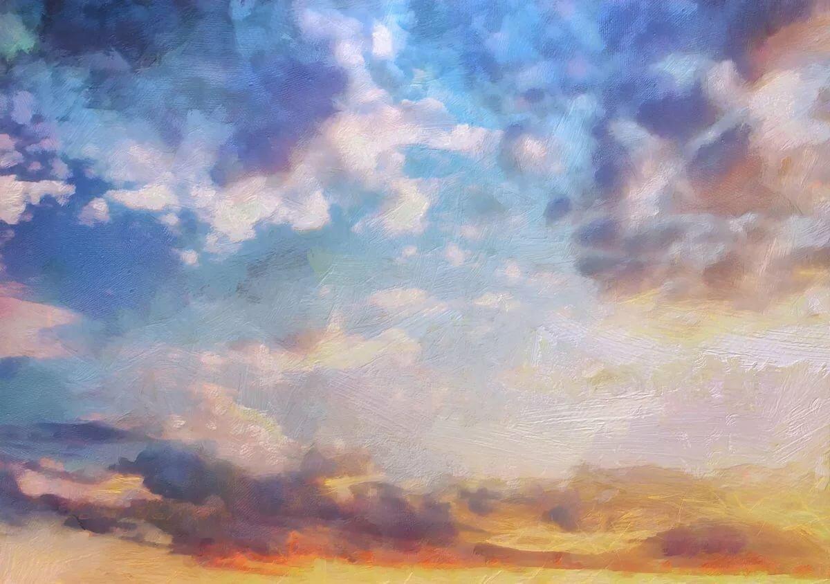 прием небо с облаками рисунок гуашью думала, что компьютер