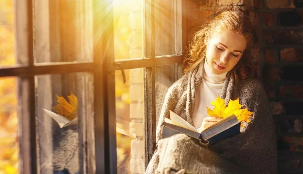 Картинка чтение у окна