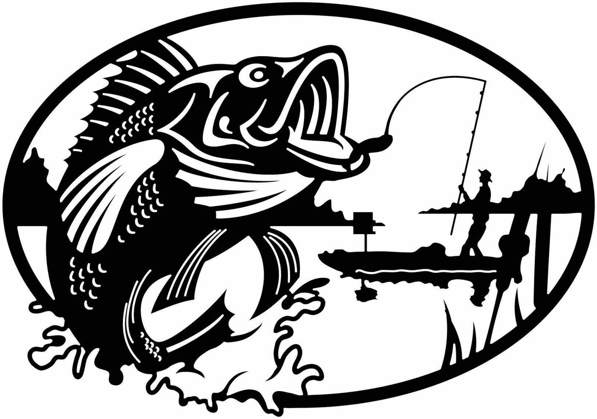 картинки рыбалка трафарет жилье