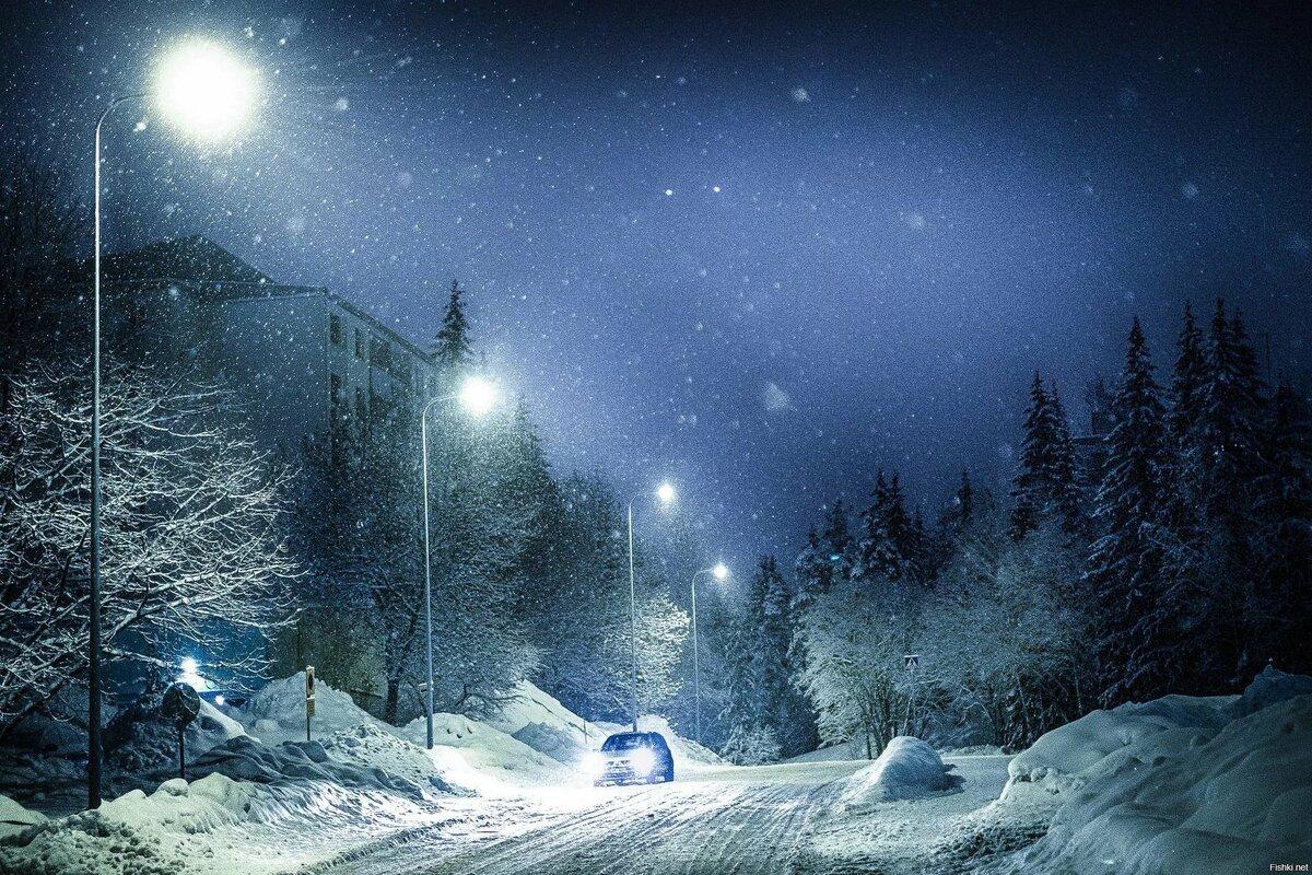 Картинки ночные с зимой
