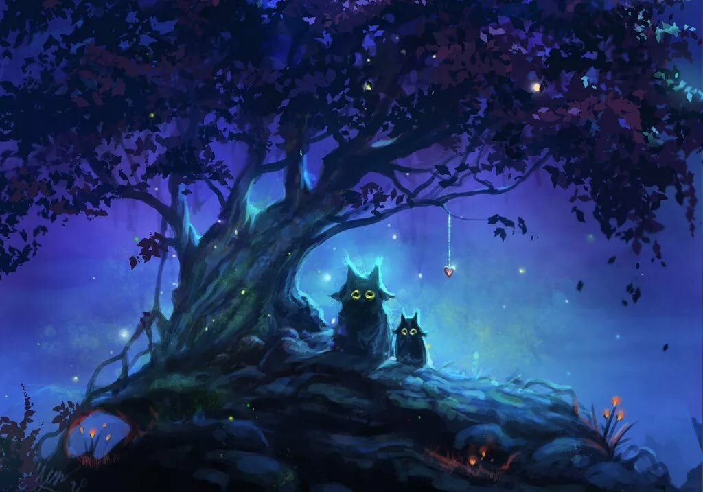 Поздравление, картинки ночка волшебная