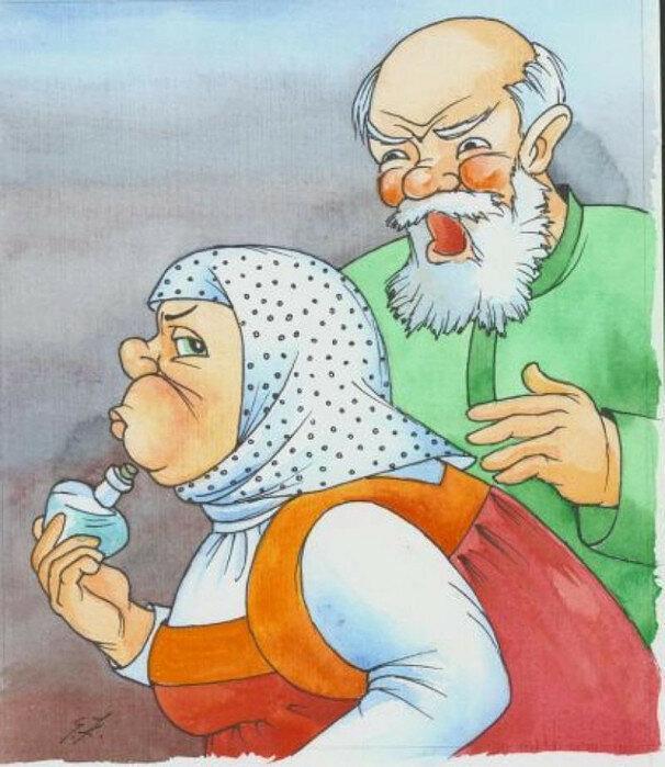Праздники, картинки старика и старухи из русских сказок