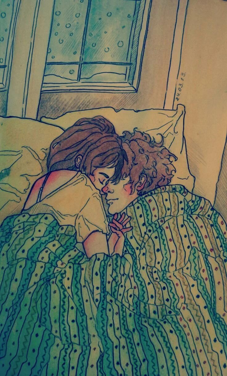 спящая пара картинки рисунки как планируют