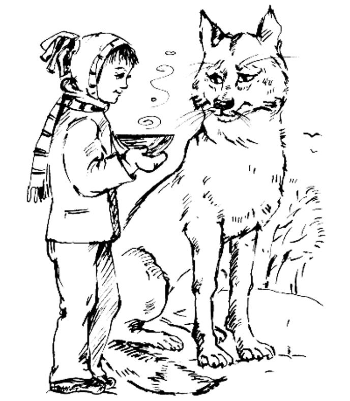 сказка петя и волк рисунок раскраска может стать завершающим