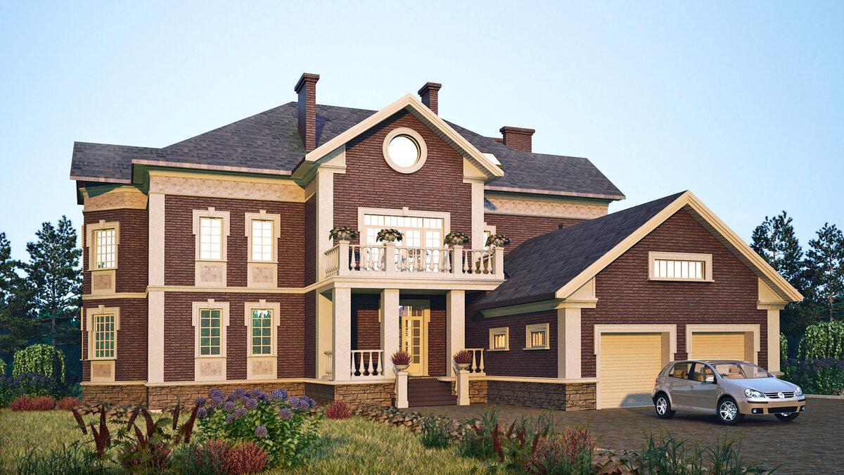 Проект фасада домов в картинках кажется