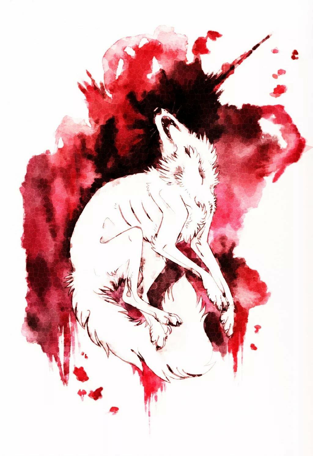 Кровавые картинки зверя